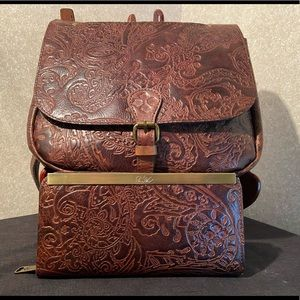 Patricia Nash Satchel and Matching Wallet